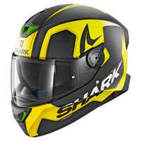 Shark Skwal 2 Trion Nero Opaco Giallo