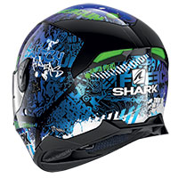 Casco Shark Skwal 2.2 Switch Rider Nero Blu Verde