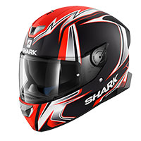 Shark Skwal 2 Sykes Nero Opaco Rosso