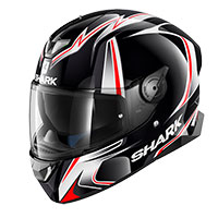 Casque Shark Skwal 2 Sykes Noir Blanc Anthra