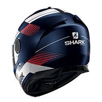Casco Shark Spartan 1.2 Strad Mat Blu Bianco Rosso