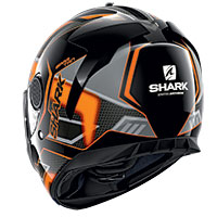 Casco Shark Spartan 1.2 Antheon Nero Arancio