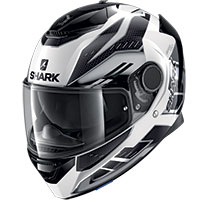 Casco Shark Spartan 1.2 Antheon Nero Bianco