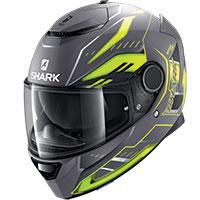 Shark Spartan 1.2 Antheon Mat Helmet Grey Yellow