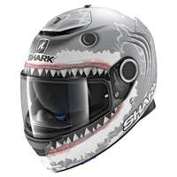 Shark Spartan Lorenzo White Shark Matt Silver