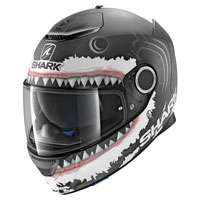 Shark Spartan Lorenzo White Shark Matt Black