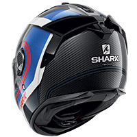 Shark Spartan Gt Carbon Tracker Helmet Blue Red