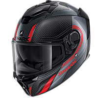 Shark Spartan Gt Carbon Tracker Helmet Red
