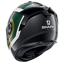 Shark Spartan Gt Carbon Tracker Helmet Green Gold