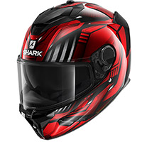 Casco Shark Spartan Gt Replikan Rosso Chrome