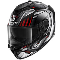 Casco Shark Spartan Gt Replikan Mat Argento Chrome
