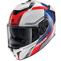 Shark Spartan Gt Tracker Helmet White Red Blue
