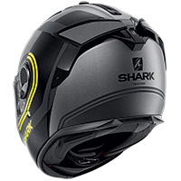 Shark Spartan Gt Tracker Mat Helmet Grey Yellow