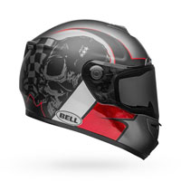Helmet Bell Srt Hart-luck Charcoal White Red