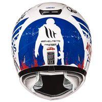 Mt Helmets Thunder Sniper Kind weiss blau rot - 3