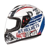 Mt Helmets Thunder Sniper Kid White Blue Red Kid
