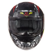 Mt Helmets Thunder Sniper Kid Matt Black Yellow Kid