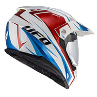Casco Ufo Aries blanco rojo azul