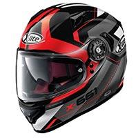 X-lite X-661 Motivator N-com Glossy Black Red