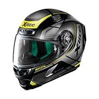 x-lite の x-803 アジャイルヘルメットフラットブラックイエロー