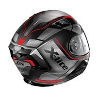 x-lite の x-803 アジャイルヘルメットフラットブラックレッド
