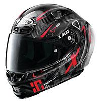 X-lite X-803 Rs Ultra Carbon Darko Nero Rosso
