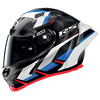 X-lite X-803 Rs Ultra Carbon Motormaster Blu Rosso