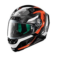 X-lite X-803 Ultra Carbon Mastery Full Face Helmet Carbon Black Orange