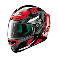 X-lite X-803 Ultra Carbon Mastery Full Face Helmet Carbon Black Red