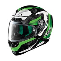 X-lite X-803 Ultra Carbon Mastery Full Face Helmet Carbon Black Green