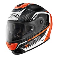 X-lite X-903 Ultra Carbon Cavalcade N-com Full Face Helmet Black White Orange