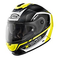 X-lite X-903 Ultra Carbon Cavalcade N-com Full Face Helmet Black White Yellow