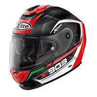 X-lite X-903 Ultra Carbon Cavalcade N-com Full Face Helmet Black Red Green White