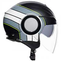 Agv Orbyt Brera Black Gray Yellow Fluo