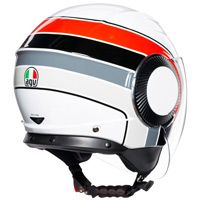 Agv Orbyt Brera Helmet White Red Grey