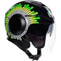 Agv Orbyt Ginza Helmet Black Yellow Green