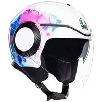 Casque Agv Orbyt Mayfair Blanc Violet