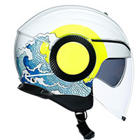 Agv Orbyt Sunset Helmet White Yellow Fluo