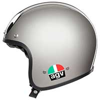 Agv X70 Jet Helm MontJuic Silber - 3