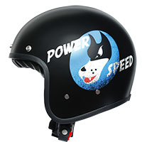 Agv X70 Jet Helmet Power Speed Pure Matt Black