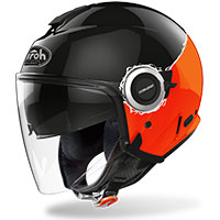 Airoh Helios Jet Helmet Fluo Orange Gloss