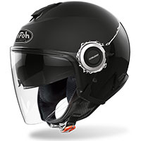 Airoh Helios Jet Helmet Fluo Black Matt