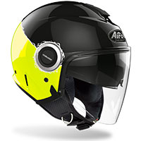 Airoh Helios Jet Helmet Fluo Yellow Gloss