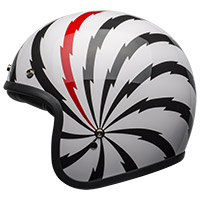 Bell Custom 500 Dlx Vertigo Helmet White Red