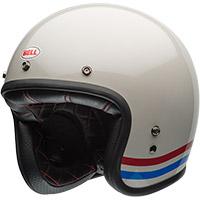 Casco Bell Custom 500 Stripes Bianco