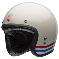 Casco Bell Custom 500 Dlx Stripes Bianco