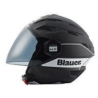 Casco Blauer Brat negro opaco blanco