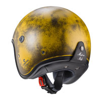 Open Face Helmet Caberg Freeride Yellow Brushed