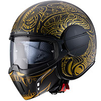 Caberg Ghost Maori Helmet Black Gold