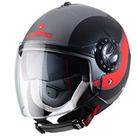 Caberg Riviera V3 Sway Helmet Black Orange Fluo